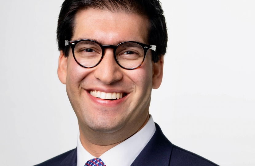 Member of Parliament for North East Hampshire Ranil Jayawardena