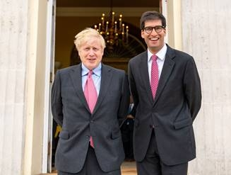 Boris Johnson and Ranil Jayawardena