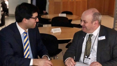 Ranil Jayawardena MP with the Managing Director of South Western Railway, Mark Hopwood